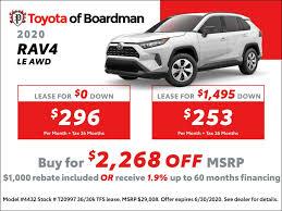 new vehicle offers toyota of boardman