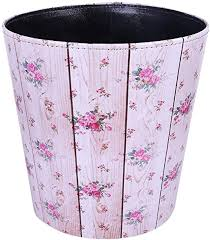 Pu Leather Deskside Garbage Can Bedroom Paper Wastebasket Decorative Recycling Bins For Living Room Ruiyif Farmhouse