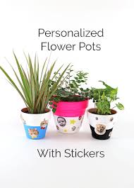 Diy Personalized Pots Personalized Flower Pot Template Printable Printable Chart