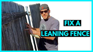 Fix A Leaning Fence Cheap And Easy Youtube