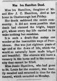 Iva Hamilton (1886-1904) - Find A Grave Memorial