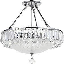 crystal droplets flush mount led