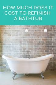 cost to refinish a bathtub 2020