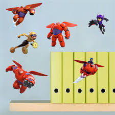 Baymax Wall Stickers Big Hero 6 Figures 3d Decal Wallpaper Mural Decor Kid Room For Sale Online Ebay