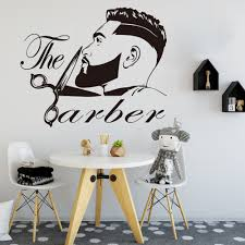 Big Discount 83cad Barber Shop Men Beard Hairstyle Salon Wall Window Decal Grooming Fashion Hairdresser Hair Cut Barber Shop Wall Sticker Vinyl Cicig Co