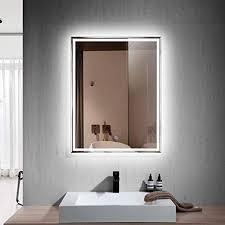 led lighted rectangle bathroom mirror