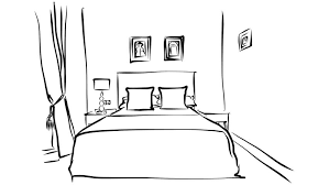 hotel room interieur pen animation