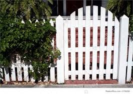 Picture Of White Picket Fence Gate