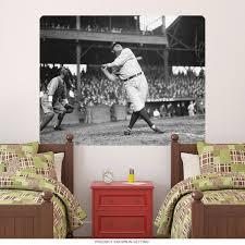 Babe Ruth Swing Yankees Baseball Wall Decal At Retro Planet