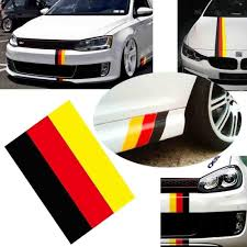 Amazon Com Ijdmtoy 10 Inch Germany Flag Color Stripe Decal Sticker Compatible With Euro Car Audi Bmw Mini Mercedes Porsche Volkswagen Exterior Or Interior Decoration Automotive