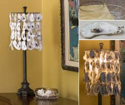 oyster shell lampshade pendant lights
