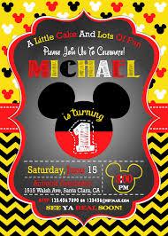 Invitacion De Mickey Mouse Invitacion De 1a Cumpleanos