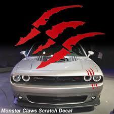 Red Monster Claws Scratch Headlight Decal Die Cut Vinyl Sticker For Halloween Blood Red Walmart Com Walmart Com