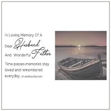 in loving memory of a dear husband and wonderful father