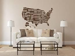 Large Usa Map Wall Decal Usa Map Wall Sticker United States Etsy Map Wall Decal World Map Wall Decor Usa Map Wall Decal
