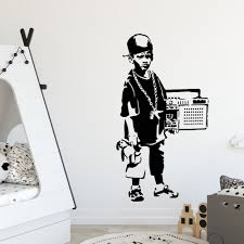 Classical Banksy Graffiti Vinyl Wall Stickers House Furnishing Decoration Wallsticker For Kids Rooms Bedroom Decor Decal Poster Timelord Clothing Uk