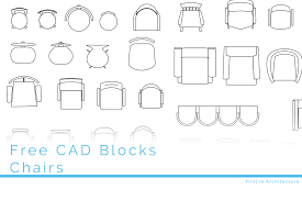 free cad blocks chairs first in