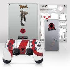 Ps4 Controller Skin Tech Decals God Of War Mark Of Kratos