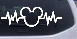 Mickey Mouse Heartbeat Love Car Or Truck Window Decal Sticker Rad Dezigns