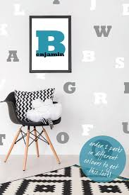 Alphabet Wall Stickers Abc Decal Letters Nursery Decor Etsy
