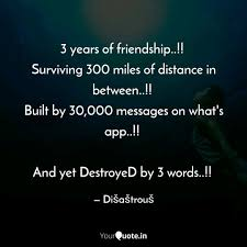 years of friendship quotes writings by sakshi singh