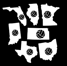 Volleyball Vinyl Stickers States Gymrats Volleyball Clothing Co