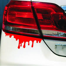 Creative Car Stickers Bleeding Car Styling Covers Automobiles Accessories Wall Head Headlight Tail Light Scratch Sticker Car Stickers Aliexpress