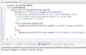 java string conns method explained