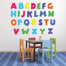 Abc Wall Art Decal Kids Playroom Classroom Wall Decals Etsy