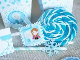 Etiquetas Cuadradas Frozen Merbo Events