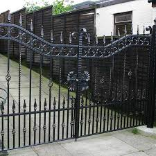 Simple And Inexpensive Metal Single Side Entrance Wrought Iron Gates With Fence Design For Sale Iok 203 You Fine Sculpture