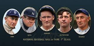 Image result for first baseball hall of fame members elected in 1936""