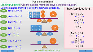 solving two step equations using the