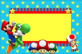 Invitaciones De Cumpleanos De Mario Bros Hd Para Bajar Gratis 3