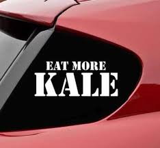 Eat More Kale Vinyl Decal Sticker Bumper Funny Vegetable Diet Healty Eating Stickers Aliexpress