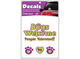 Dogs Welcome People Tolerated Car Decals The Dog Speak Boutique