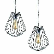 wire easy fit hanging ceiling light
