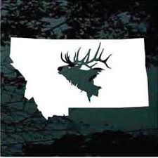 State Elk Hunting Decals Truck Window Stickers Decal Junky