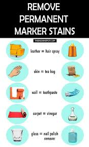 ways to remove permanent marker stains
