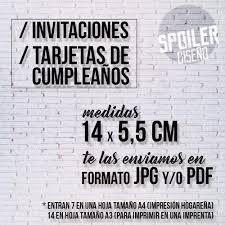 Invitaciones Cumpleanos Infantiles Para Imprimir Jpg Pdf 85