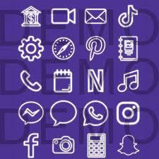 View Neon Dark Blue Aesthetic Snapchat Logo PNG