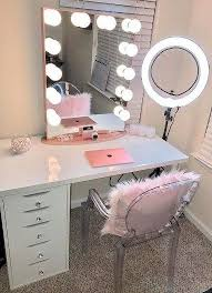 diy makeup vanity mirror bathroom