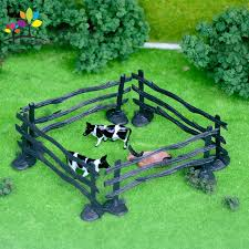 10 Pieces Original Farm Animal Fence Stable Transfer Fence Model Diy Building Sand Table Toy Aliexpress