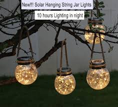 solar hanging lights outdoor warm