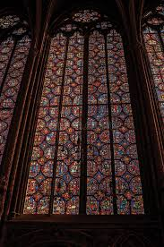 colorful stained glass windows at the