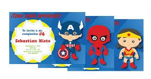 Tarjetas De Invitacion Cumpleanos Superman Para Mandar Por