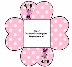 Minnie Rosa Cajas Para Imprimir Gratis Fiesta De Mickey Mouse