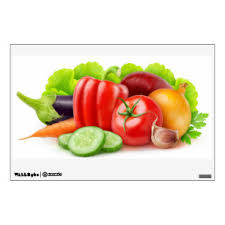Vegetable Wall Decals Stickers Zazzle