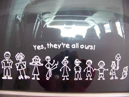 Here Is How That Family Sticker Will Look On Your Glass Or Tinted Vehicle Window