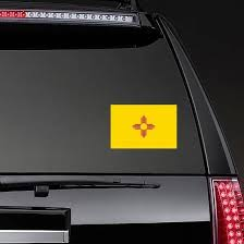 New Mexico Nm State Flag Sticker